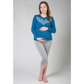 Бриджи домашние для беременных (высокие), размер M-XL, цвет серый