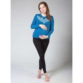 Легинсы домашние для беременных (высокие), размер M-XL, цвет чёрный