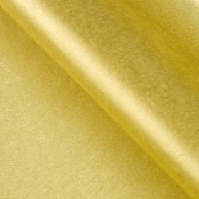Бумага упаковочная тишью, золотой, 50 см х 66 см