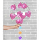 "Шар воздушный 18"" ""Романтика"" прозрачный + 10 шариков 3"", лента, гирлянда"