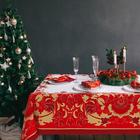 """Набор столовый """"Этель"""" Сказочные узоры, скатерть 110*150 см, салф. 40*40 см-4 шт, 100% хл"""