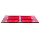 Менажница 26,3х26,3 см, цвет красный