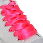 Шнурки атласные 20мм 110см (пара) 14 роз неон