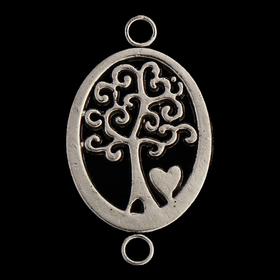 Декор металл для творчества 'Деревце с сердечком в овале' (А41159) 2,2х1,3 см Ош