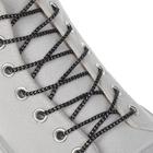 Шнурки с круг сечением серебр нить d3мм 110см (пара) чёрн