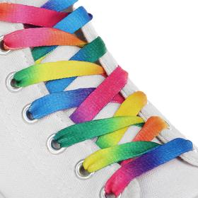 Шнурки с плоск сечением 8мм 110см (пара) радуж