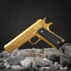 Пистолет пневматический пружинный Galaxy Colt 1911 G.13, золотистый, кал. 6 мм