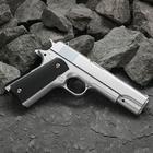 Пистолет пневматический пружинный Galaxy Colt 1911 G.13, серебристый, кал. 6 мм