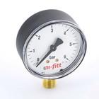 """Манометр UNI-FITT 301P2020, радиальный, 6 бар, диаметр 50 мм, 1/4"""""""