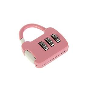 Замок навесной кодовый, Type 8, розовый Ош