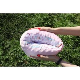 Подушка многофункциональная для кормления и укачивания  'Мороженка', розовый плюш Ош
