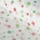 Бумага тишью «Разноцветные снежные хлопья» 50 х 76 см
