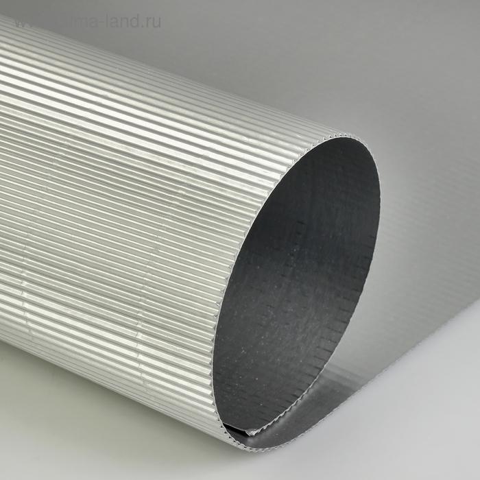 Картон цветной гофрированный 700*500 мм Werola e-wave, 110 г/м², серебро
