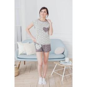Комплект женский (футболка, шорты) ТК-441 цвет МИКС, р-р 48