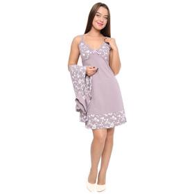 Комплект женский (сорочка, халат) ПС-37 цвет МИКС, р-р 50