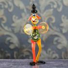"""Сувенир из стекла """"Клоун с тарелками"""", 8 х 8 х 18 см"""