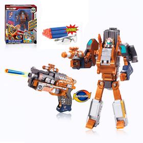 """Робот-трансформер """"Киберпушка"""", трансформируется в пистолет  и стреляет мягкими пулями"""