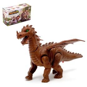 """Динозавр """"Дракон"""", работает от батареек, световые и звуковые эффекты"""