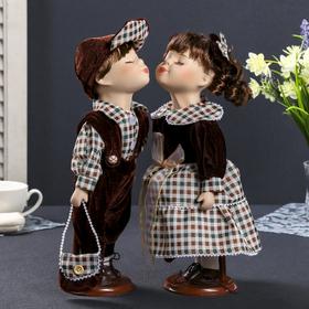 """Кукла коллекционная парочка поцелуй набор 2 шт """"Венера и Антон"""" 30 см"""