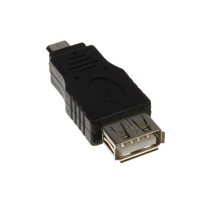 Переходник 5bites, USB AF/Micro 5Pin, черный