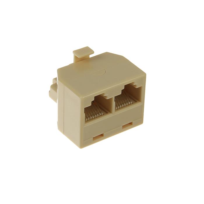Адаптер проходной 5bites, 8P8C M/2F, бежевый