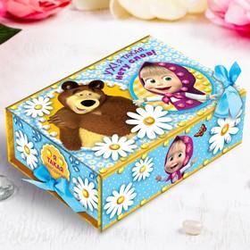 """Шкатулка для декорирования """"Ух! Я такая, нету слов"""" Маша и Медведь+элементы декора,стразы,"""