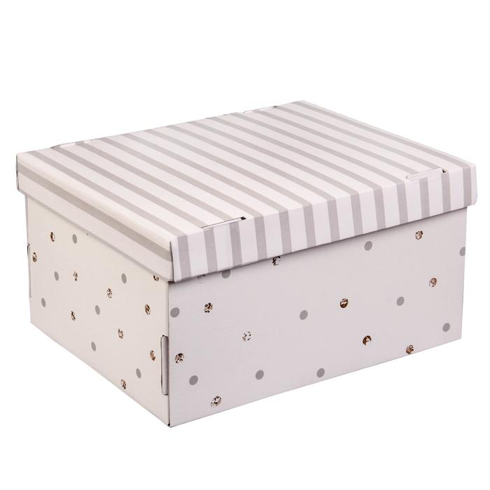 Складная коробка «Счастье внутри», 31,2 х 25,6 х 16,1 см