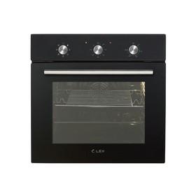 Духовой шкаф Lex EDM 070 BL, электрический, 60 л, класс А, черное стекло