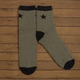 Носки мужские  'Звезда', хаки р-р 41-44 (27-29 см) , 80% хл.,15% п/а, 5% эл. Ош