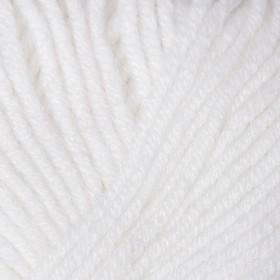 """Пряжа """"Lanagold"""" 51% акрил, 49% шерсть 240м/100гр (55 белый)"""