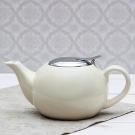 """Чайник заварочный 600 мл """"Солнце"""", с ситом, цвет бежевый"""