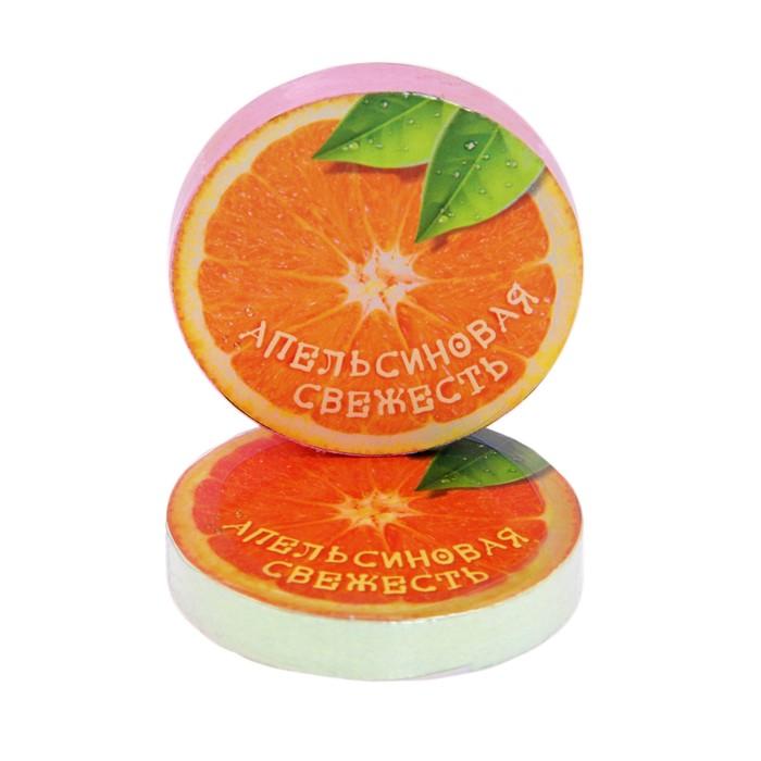 """Полотенце прессованное """"Апельсиновая свежесть"""", размер 28 х 28 см, цвет микс"""