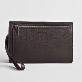 d60e819a21f6 Клатч мужской, отдел на молнии, наружный карман, ручка, цвет кофе Ош