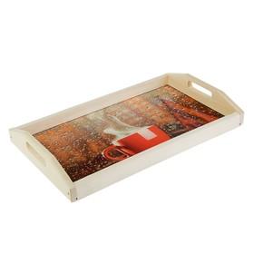 Поднос для завтрака 'Уют', стеклянная поверхность, 50х7х29,5см Ош