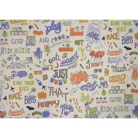 "Обои виниловые на флизелине Артекс 20012-03 ""Play Today"" оранжево-синий 1,06х10 м"