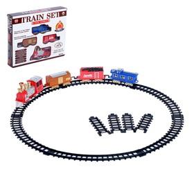 """Железная дорога """"Грузовой локомотив"""", работает от батареек"""