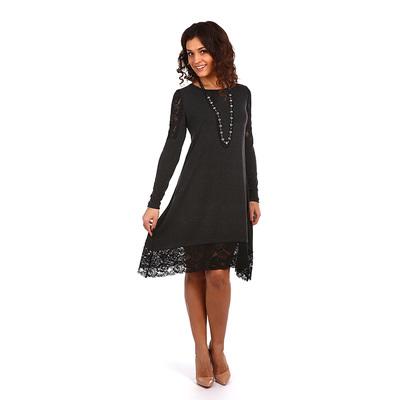 Платье женское Айова цвет тёмно-серый, р-р 46
