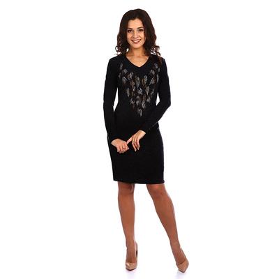 Платье женское Леонор с пёрышками, цвет серый, р-р 48