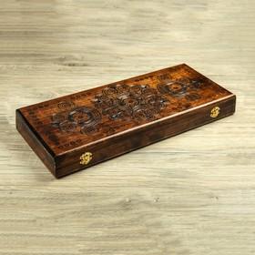 Нарды деревянные, резные, 51 х 22,5 см, микс Ош
