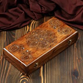 Нарды деревянные, резные, 35 х17 см, микс Ош