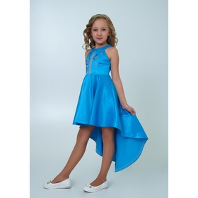 Платье нарядное  детское, рост 134 см, цвет голубой 2Н56-4