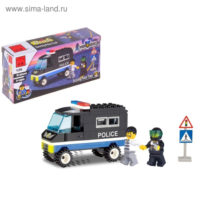 """Конструктор """"Полицейский фургон"""", 87 деталей"""