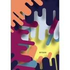 """Колледж-тетрадь А6, 64 листа клетка """"Графика. Цветовые сочетания"""", интегральная обложка, глянцевая ламинация"""