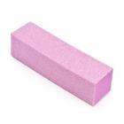 Блок для шлифовки ногтей, цвет розовый (ZJNB-13)