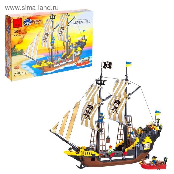 """Конструктор Пираты """"Пиратский корабль"""", 590 деталей"""