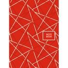 """Колледж-тетрадь А6, 64 листа клетка """"Офисный стиль. Геометрия красная"""", твердая обложка, глянцевая ламинация"""