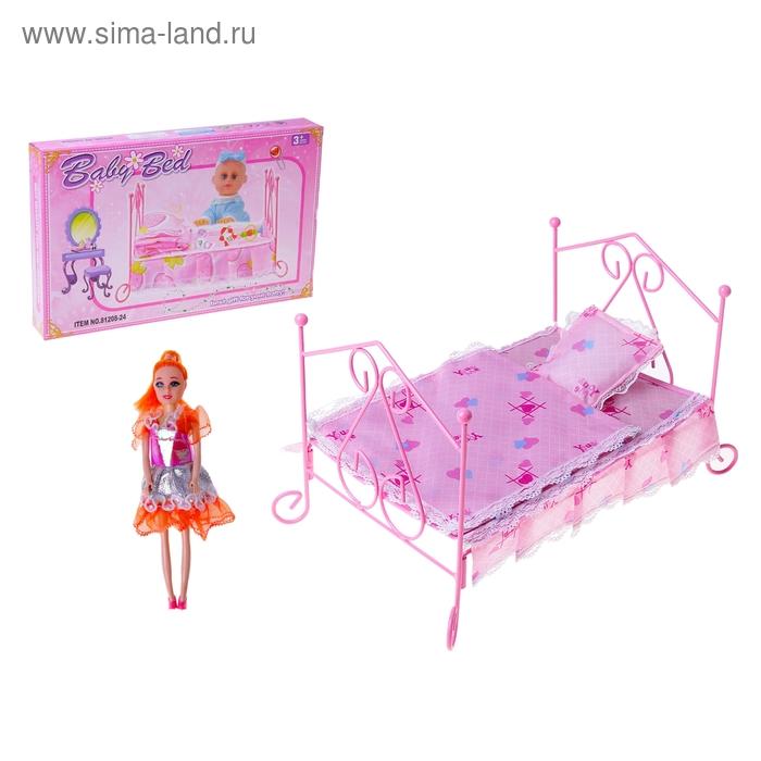 Кроватка для куклы, металлический каркас