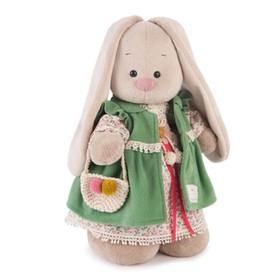 """Мягкая игрушка Зайка Ми """"Зелёная полынь"""", 32 см"""