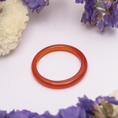 """Кольцо гладкое """"Сердолик""""  2 мм, 302"""