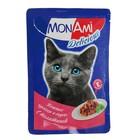 Влажный корм MonAmi для кошек, телятина, пауч, 85 г